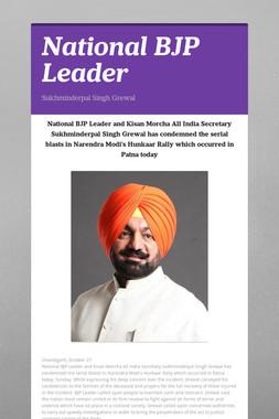 National BJP Leader