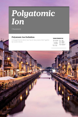 Polyatomic Ion