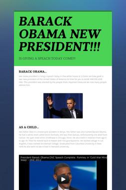 BARACK OBAMA NEW PRESIDENT!!!