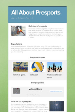 All About Presports