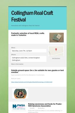 Collingham Real Craft Festival
