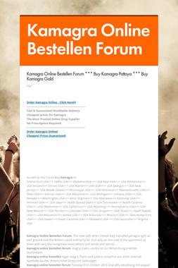 Kamagra Online Bestellen Forum