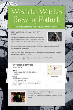 Westlake Witches Brewing Potluck