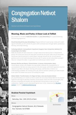 Congregation Netivot Shalom