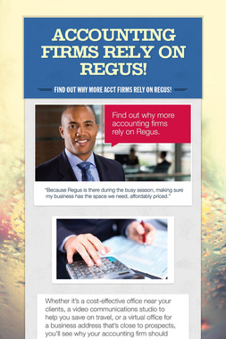 Accounting Firms rely on Regus!
