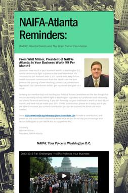 NAIFA-Atlanta Reminders:
