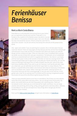 Ferienhäuser Benissa