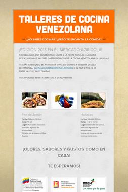 TALLERES DE COCINA VENEZOLANA