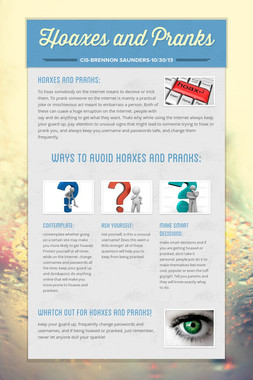 Hoaxes and Pranks