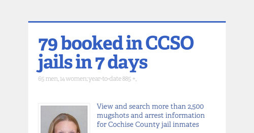 79 booked in CCSO jails in 7 days | Smore Newsletters