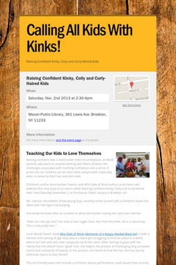 Calling All Kids With Kinks!