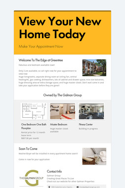 View Your New Home Today