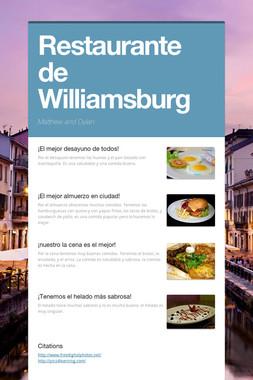 Restaurante de Williamsburg