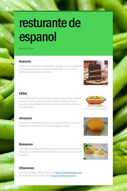 resturante de espanol