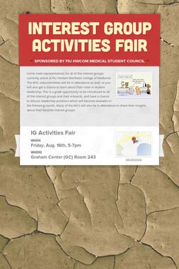 Interest Group Activities Fair