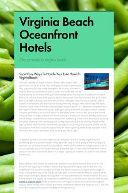 Virginia Beach Oceanfront Hotels