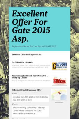 Excellent Offer For Gate 2015 Asp.