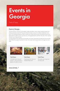Events in Georgia