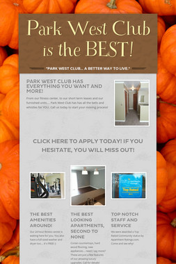 Park West Club is the BEST!