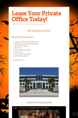 Lease Your Private Office Today!