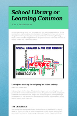 School Library or Learning Common