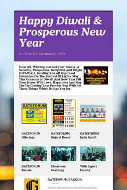 Happy Diwali & Prosperous New Year