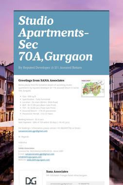 Studio Apartments-Sec 70A,Gurgaon