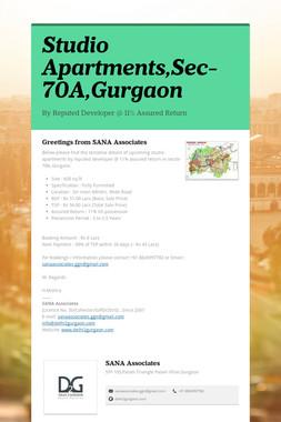 Studio Apartments,Sec-70A,Gurgaon