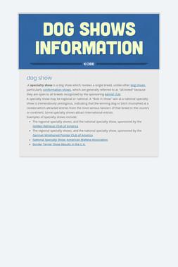 dog shows information