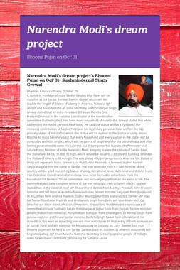 Narendra Modi's dream project