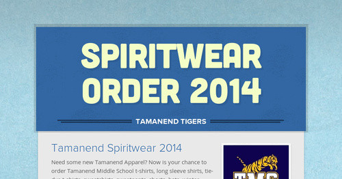 Spiritwear Order 2013