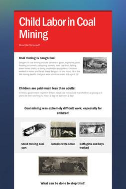 Child Labor in Coal Mining