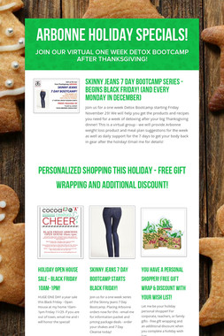 Arbonne Holiday Specials!
