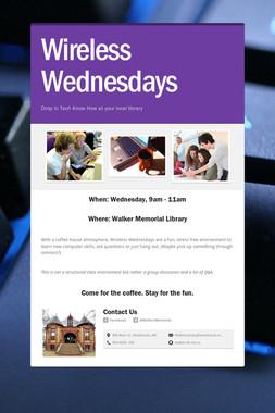 Wireless Wednesdays