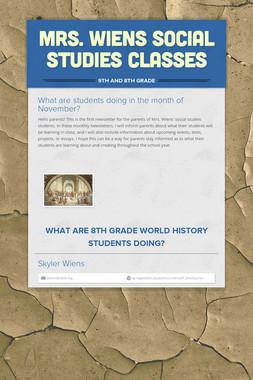 Mrs. Wiens Social Studies Classes