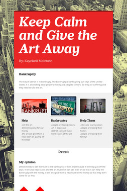 Keep Calm and Give the Art Away