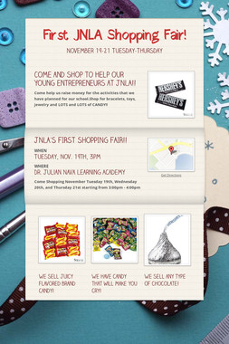First JNLA Shopping Fair!