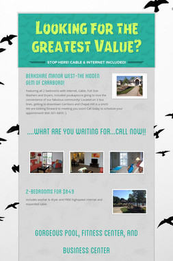 Looking for the greatest Value?