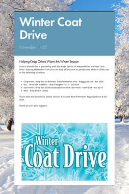 Winter Coat Drive