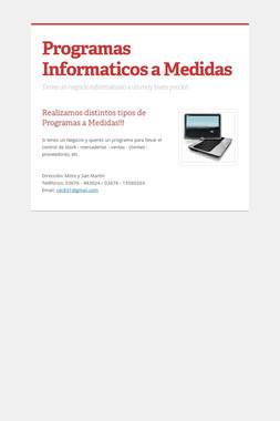 Programas Informaticos a Medidas