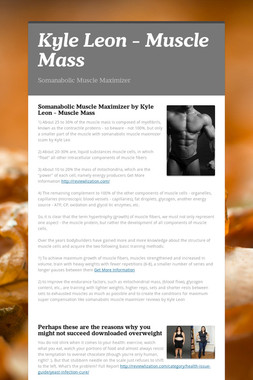 Kyle Leon - Muscle Mass