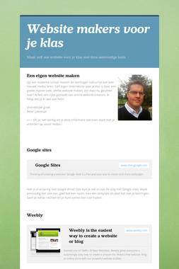 Website makers voor je klas