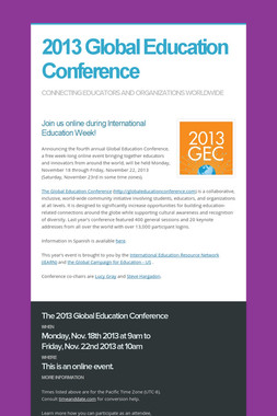 2013 Global Education Conference
