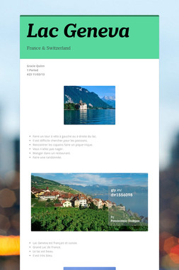 Lac Geneva