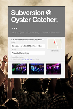 Subversion @ Oyster Catcher,…