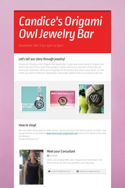 Candice's Origami Owl Jewelry Bar
