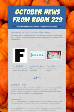 October News from Room 229
