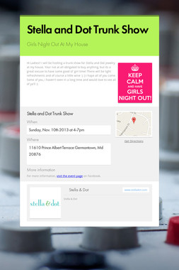 Stella and Dot Trunk Show
