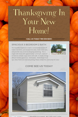 Thanksgiving In Your New Home!