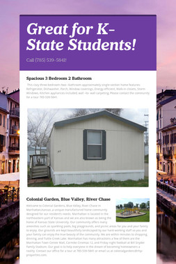 Great for K-State Students!
